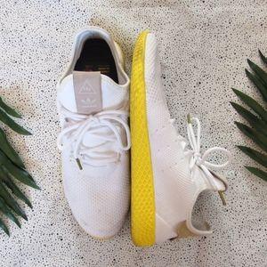 ADIDAS Tennis HU Pharrell White & Yellow Sneakers